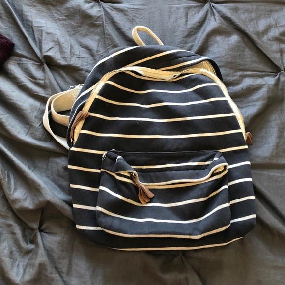 214bf2e4bd Brandy Melville Bags   John Galt Striped Backpack   Poshmark